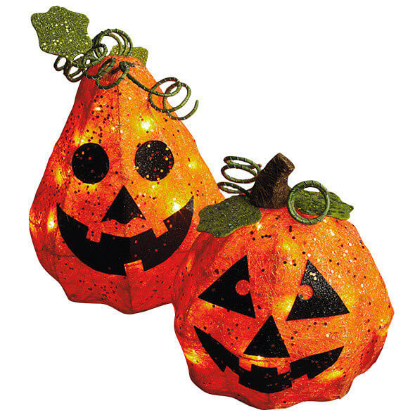 Lighted Pumpkin Decor Set Teton