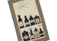 Halloween Potions Printed Dishtowel