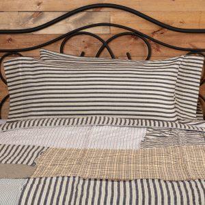 Ashmont King Ticking Stripe Pillowcase Set
