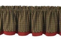 Cabin Plaid Linen Layered Valance