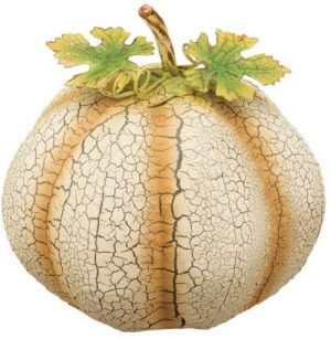 Ivory Pumpkin Decor - Small