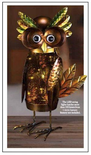 Owl LED Lighted Jar Decor