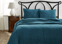 Rochelle Aegean Blue Twin Quilt Set