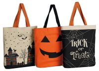 Halloween Printed Trick or Treat Tote Collection