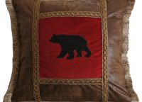 Applique Bear Square Pillow