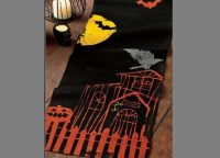 Beware Haunted House Table Runner