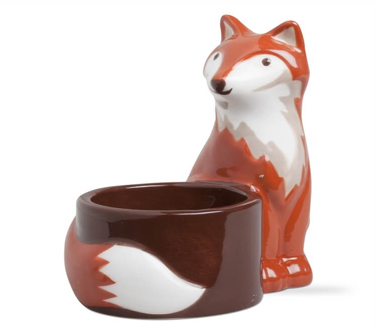 Franny Fox Tealight Holder Teton Timberline Trading