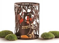 Fox and Owl Pillar Holder