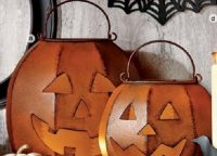 Rustic Jack-O-Lantern Pillar Holders