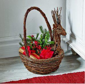 Natural Vine Reindeer Basket