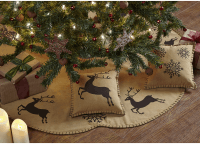Prancer Tree Skirt Decorated
