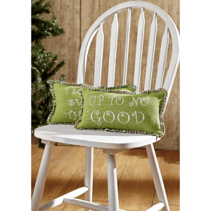 Up to No Good Christmas Pillows