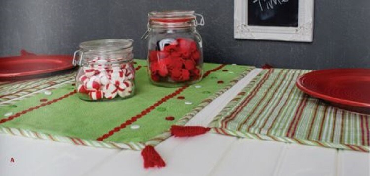 Whimsical Christmas Small Table Runner - Teton Timberline Trading