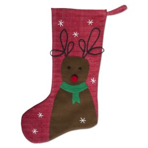 Winter Whimsy Reindeer Stocking