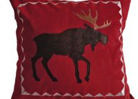 Moose Be Red Velvet Pillow