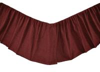 Cheyenne American Red King Bed Skirt