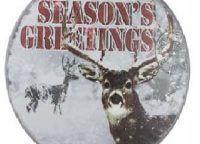 Deer Nostalgic Disc Ornament