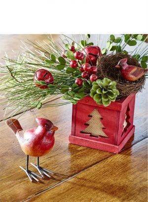 Red Tree Pine Bell Arrangement