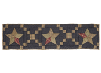 Arlington Quilted Patchwork Star Luxury Table Runner