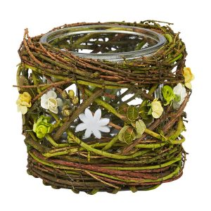 Mossy Twig Votive Holder