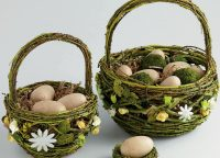 Mossy Twig Basket Set