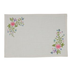 Spring Fling Embroidered Placemat