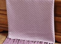 Purple White Interwoven Throw