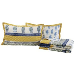 Calypso Cyan Quilt Set Folded