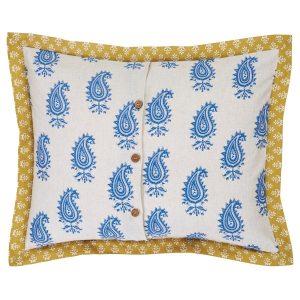 Calypso Cyan Standard Pillow Sham Back