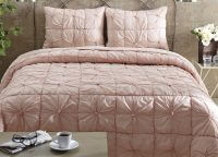 Camille Blush Pink Queen Quilt Set