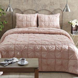 Camille Blush Pink Queen Quilt Set