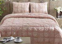 Camille Blush Pink Twin Quilt Set