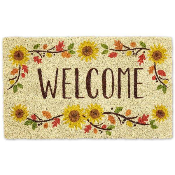 Welcome Sunflowers Door Mat Teton Timberline Trading