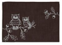 Embroidered Owls Placemat