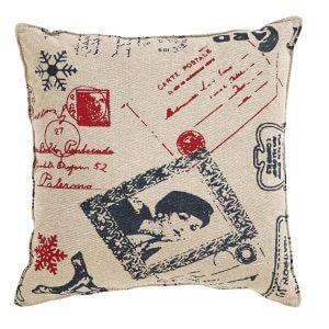 Joyeux Noel Throw Pillow Back