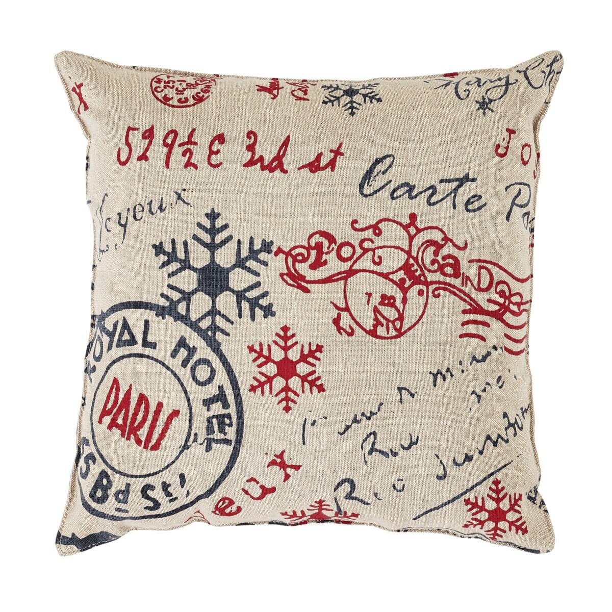 Joyeux Noel Throw Pillow Teton Timberline Trading French Country Creations