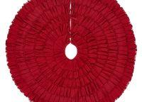 Red Burlap Ruffled Tree Skirt