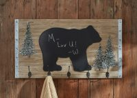 Black Bear Chalkboard Display with Hooks
