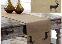 Barrington Buck Burlap Placemat & Runner Set