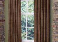 Cabin Plaid Lined Panel Pair