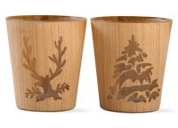 Natural Woodlands Votive Holder Set