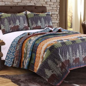 Black Bear Lodge Twin Quilt Set