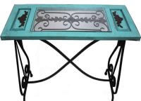 Rustic Aqua Iron Table