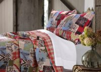 Rustic Boho Lodge Queen Quilt Set