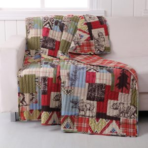 Rustic Boho Lodge Quilted Throw