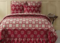 Paloma Crimson Twin Quilt Set