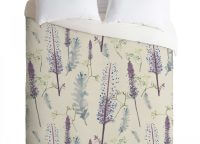 Rachelle Roberts Winter Pinecone Twin Duvet Cover Set