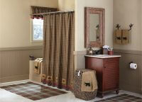 Cabin Patch Shower Curtain