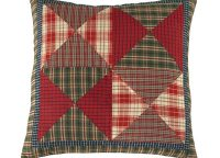 Cabin Plaid Block Throw Pillow
