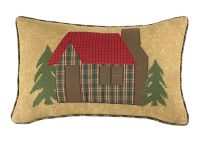 Plaid Cabin Throw Pillow
